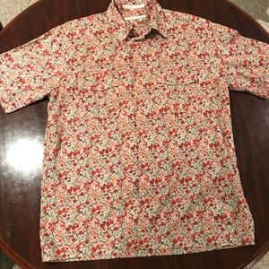 Perry Ellis Floral Short Sleeve Button Down